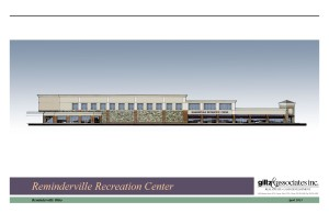 reminderville rec ctr elevation w stone