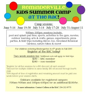 summer camp page