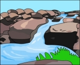Waterfall and Streams Clipart